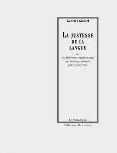 La Justesse de la Langue – Gabriel Girard